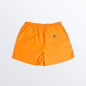 Bañador niño naranja flúor reverso