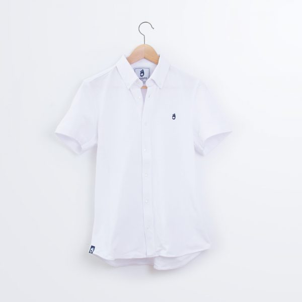 polo-camisa-blanco-corto-