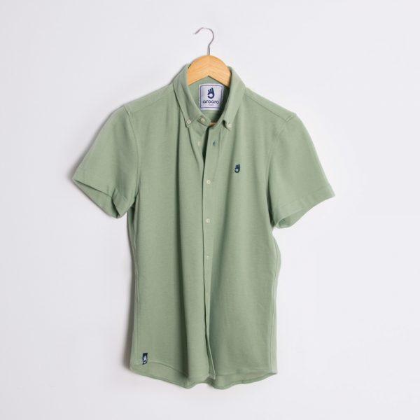 polo camisa mangas verdes 2